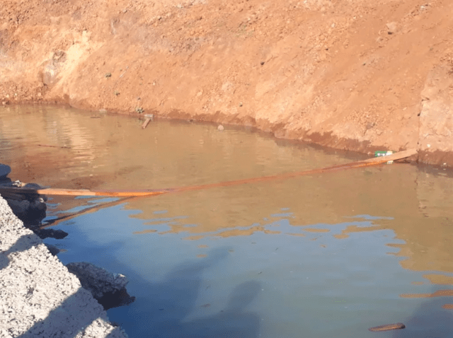 Trench in Venda in which two siblings drowned
