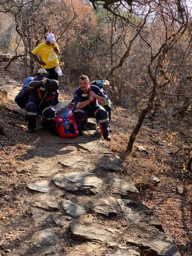 Woman injured hiking