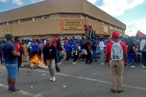 eSwatini workers clash with police