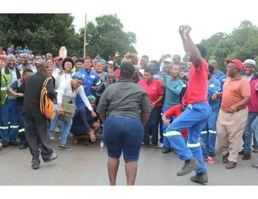 mining deal protest