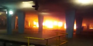 A fire gutted trains at the Cape Town station on 28 November 2019