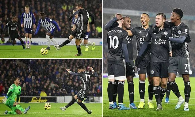 Brighton 0-2 Leicester City