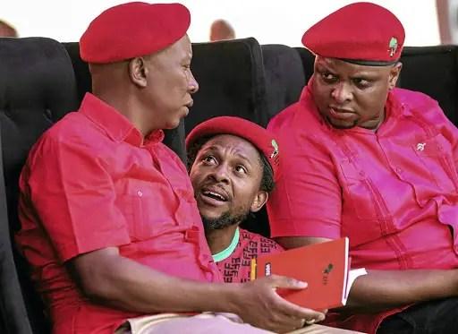 Julius Malema and Mbuyiseni Ndlozi
