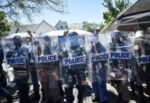 Police block