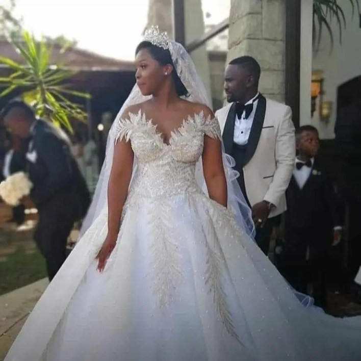 Sam Mshengu and his wife, Lerato Legodi's secret White Wedding