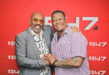 Steve Harvey gives a shoutout to DJ Fresh