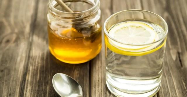 Water, honey, lemon