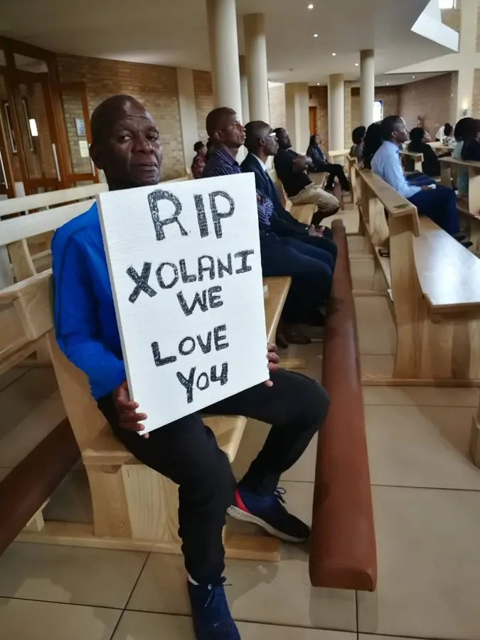 Xolani Gwala's memorial service