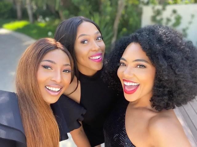 Enhle Mbali, Simz Ngema & Amanda Du Pont