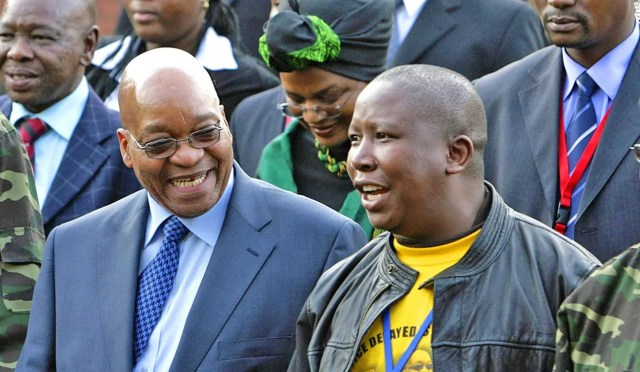 Julius Malema and Jacob Zuma