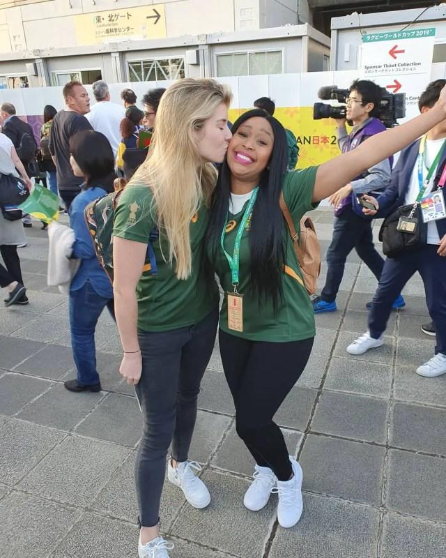 Minnie Dlamini - Jones and Rachel Kolisi