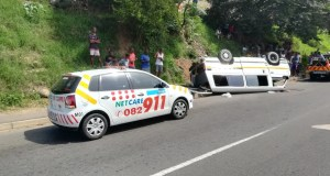 Multiple injured in taxi rollover