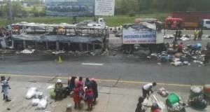 N1 bus fire