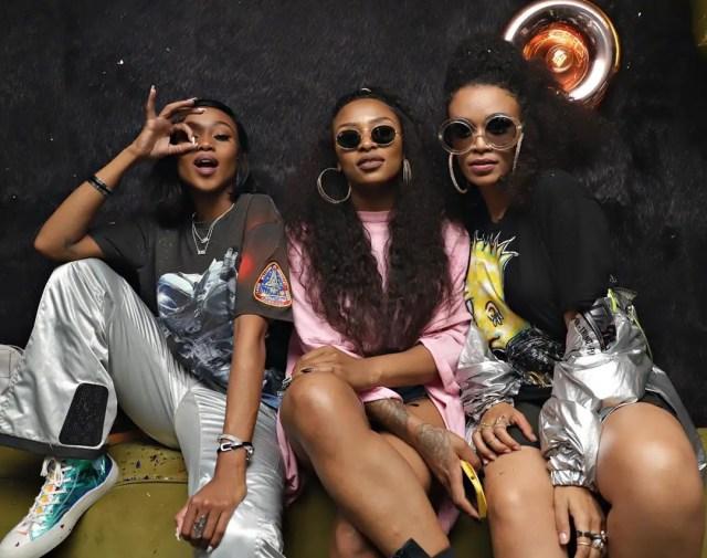 Pearl Thusi,Nomuzi and DJ Zinhle1