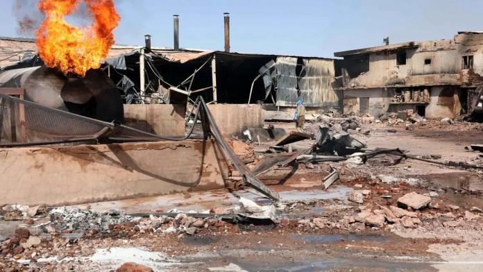 Sudan factory fire