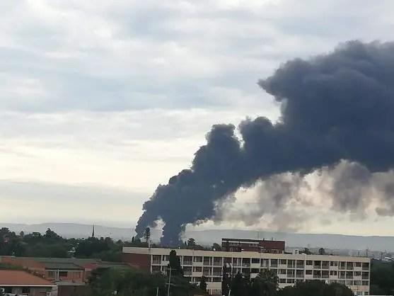 Verwoerdpark, Alberton gas pipe line explodes