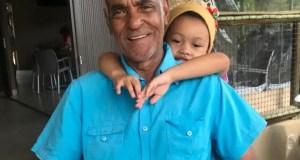 AKA and his grandfather