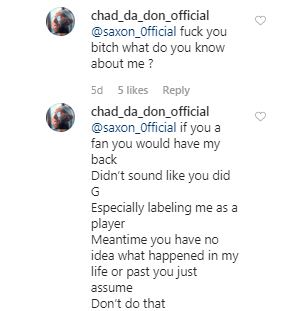Chad da Don blasts disrespectful Fan