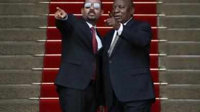 Cyril Ramaphosa and Ethopian Prime Minister