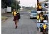 School Girl taken in Mercedes Benz