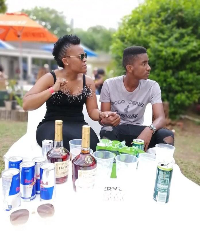 Zodwa Wabantu and her bae, Vusi