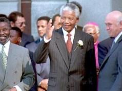 FW de Klerk, Nelson Mandela and Thabo Mbeki