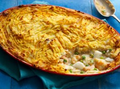 Healthy fish pie