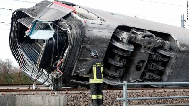 Italy high-speed train crash