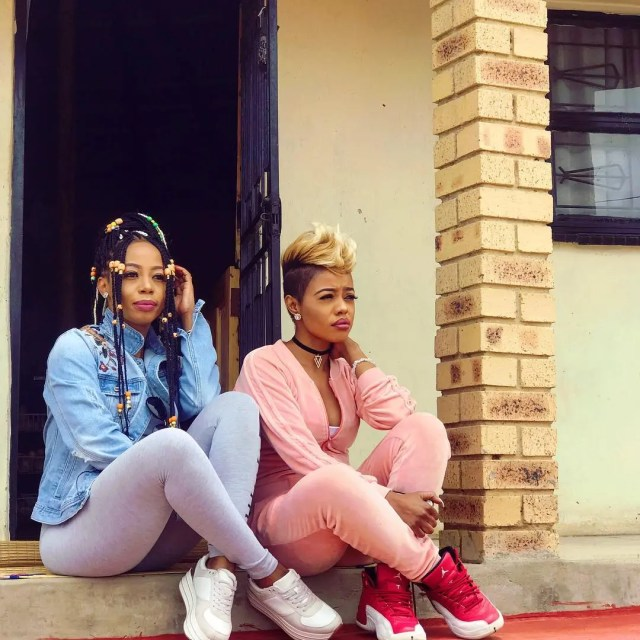 Kelly Khumalo and her sister