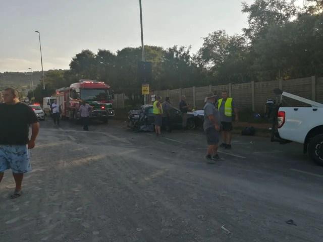 Multiple vehicles destroyed in Roodepoort crash