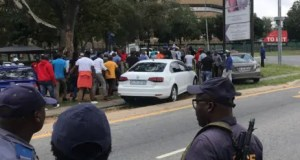 Several Uber and Bolt drivers took part in a protest on 19 February 2020 over safety issues and drove in convoy from Zoo Lake in Parkview to Sandton