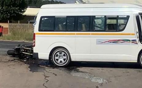 The scene of the accident on Old Pretoria Road in Midrand