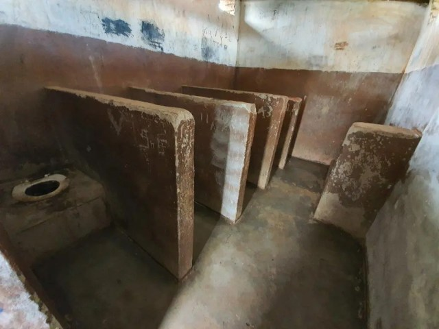 This images depicts the horrendous conditions at Madima Primary School, Saulspoort prior to the new facilities
