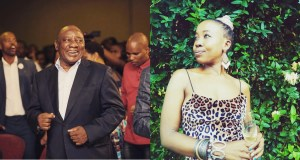 Ntsiki Mazwai and Cyril Ramaphosa