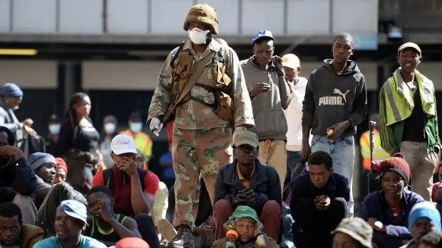 Police make an arrest in Hillbrow