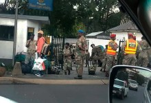 Photo of SA soldiers beating up motorists and civilians who are going against Lockdown