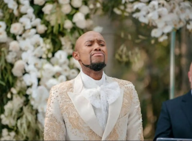 Somizi Mhlongo and Mohale Motaung white wedding
