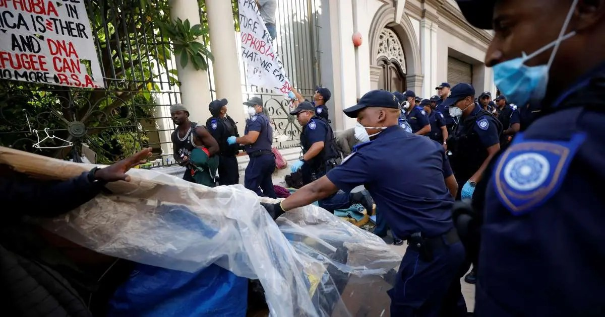 Trespassing case opened against Cape Town refugees