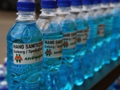 AfriForum's branded bottles of unwanted hand sanitiser
