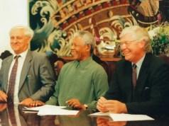 Genl Viljoen and Nelson Mandela