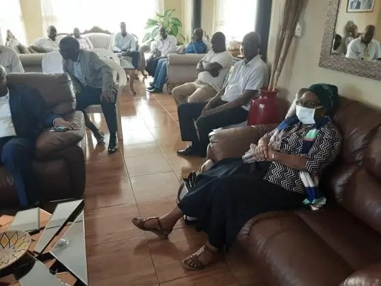 Mourners gather at Muhlava Royal House in Mopani district municipality, Limpopo