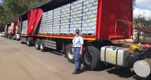 One of the impounded SAB trucks
