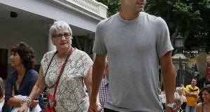 Pep Guardiola and Mum