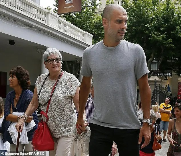 Pep Guardiola and Mum