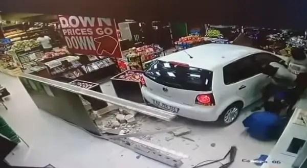 Polo driver smashes into KZN Caltex FreshStop