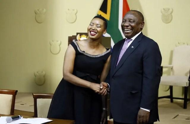 President Cyril Ramaphosa and Stella Ndabeni-Abrahams