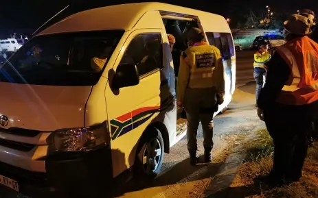 overloaded taxi travelling from Limpopo to Gauteng