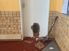 The school in Tshwane which has been broken into twice since Friday. The education department says such incidents hamper preparation for pupils to return to school on June 1