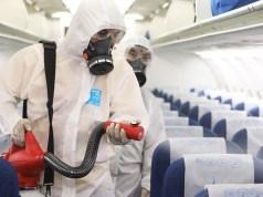 sanitising aeroplanes
