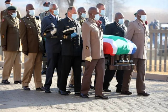 Andrew Mlangeni during the official funeral